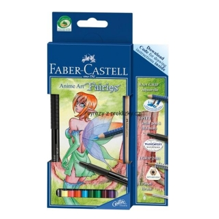 ART GRIP pastelka Akvarel Anime Art Fairies Castell, 10ks