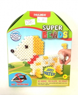 HRAČKA: Paulinda Super Beads, 5x6mm, 200ks, pejsek